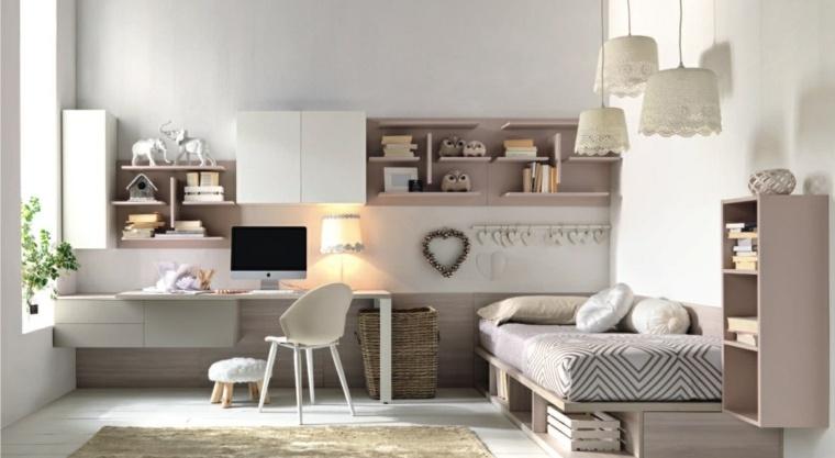 habitaciones infantiles pequeñas-diseno-moderno-elegante