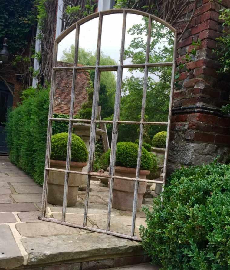 Ideas De Diseño De Jardines Residenciales: Ideas Para Decorar Jardín Con Espejos Más De 40 Fotos