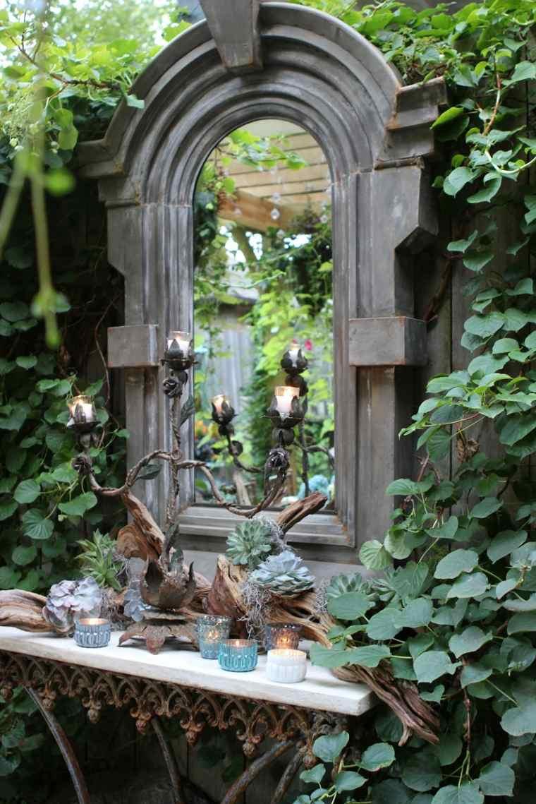 ideas para decorar jardín-espejos-exteriores-diseno