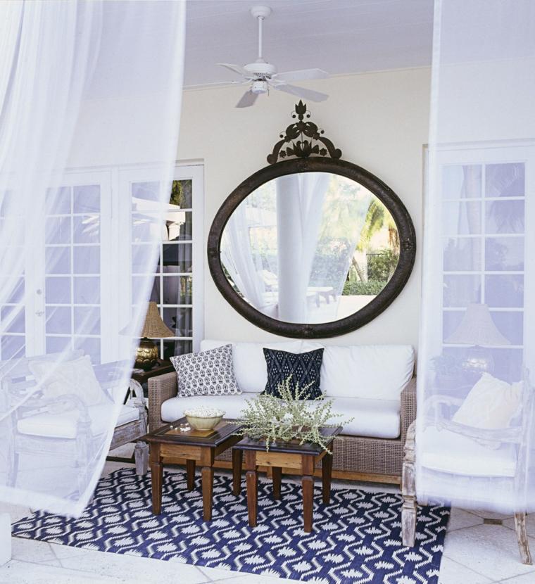 ideas para decorar jardín-espejos-porche-exterior-diseno