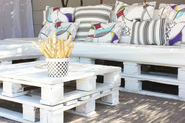 Muebles de jardín baratos - 20 ideas de muebles hechos con palets -