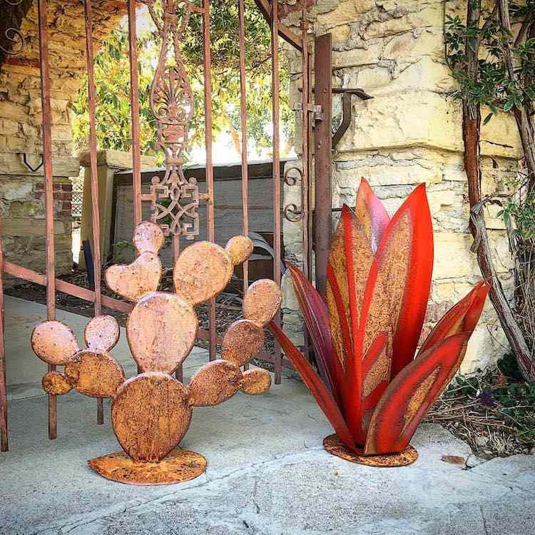 jardines acero corten y otros metales para decorar con creatividad. Black Bedroom Furniture Sets. Home Design Ideas