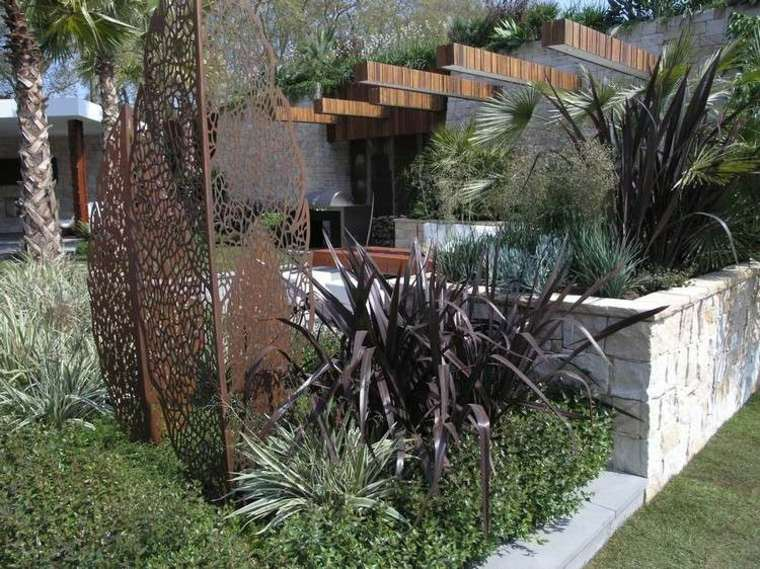 jardines esculturas metales-acero-corten