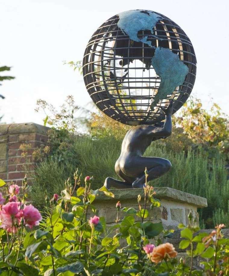 jardines esculturas rosas-decoraciones-salones