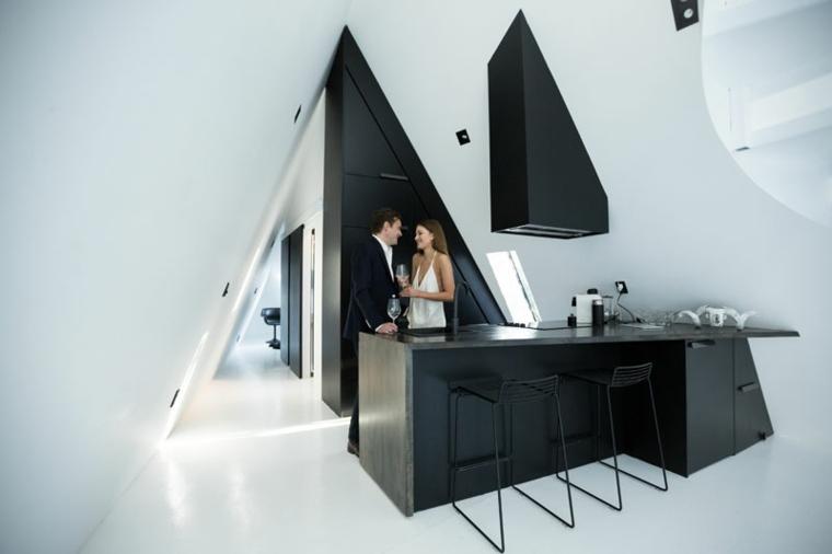 la casa mágica-Nueva-Zelanda-diseno-cabinas-modernas-diseno-blanco-negro