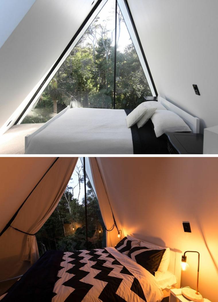 la casa mágica-Nueva-Zelanda-diseno-cabinas-modernas-dormitorio-estilo