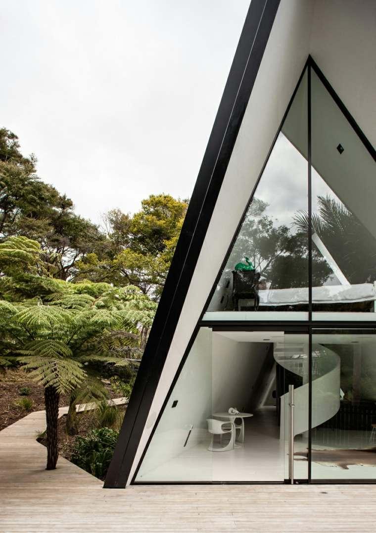 la casa mágica-Nueva-Zelanda-diseno-cabinas-modernas-entrada