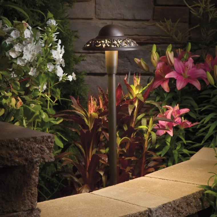 lámparas jardín