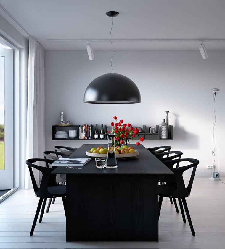 mesas y sillas de comedor-diseno-negro