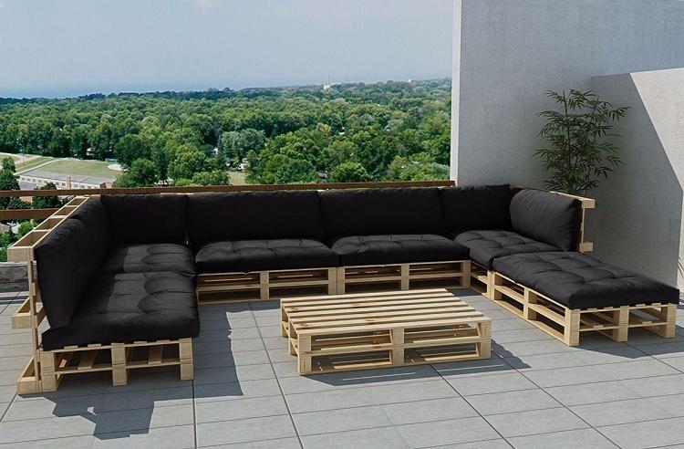 Muebles de jard n baratos 20 ideas de muebles hechos con for Sofas de jardin baratos