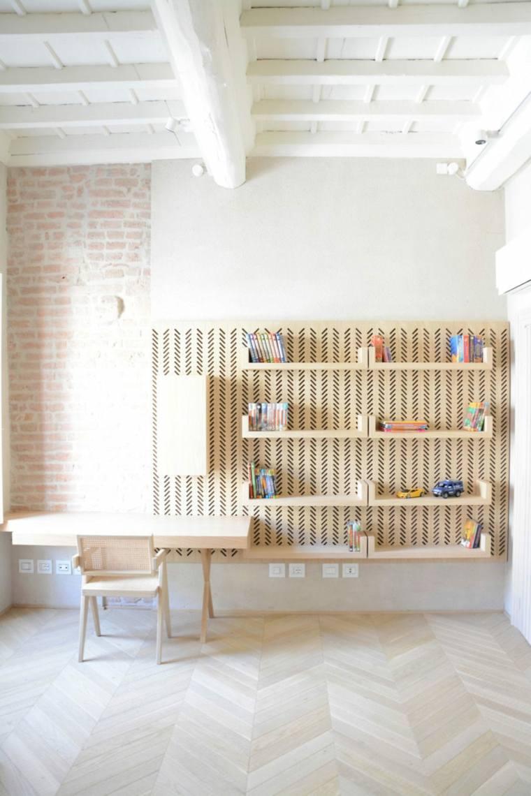 nuevo estilo-viejo-apartamento-estantes-madera