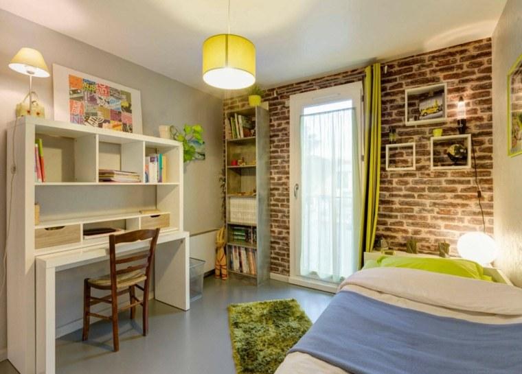 pared-ladrillo-habitacion-infantil-diseno-espacios-pequenos