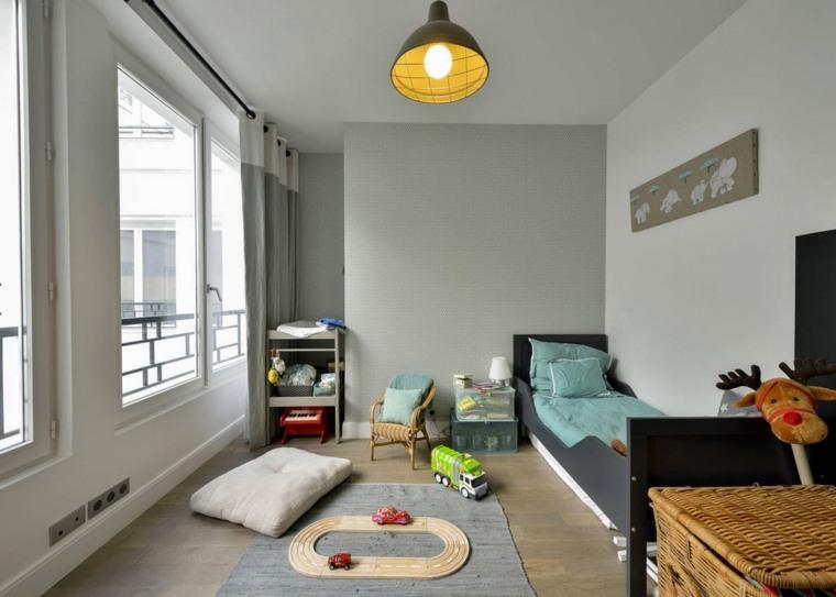 paredes-color-gris-diseno-habitacion-ninos