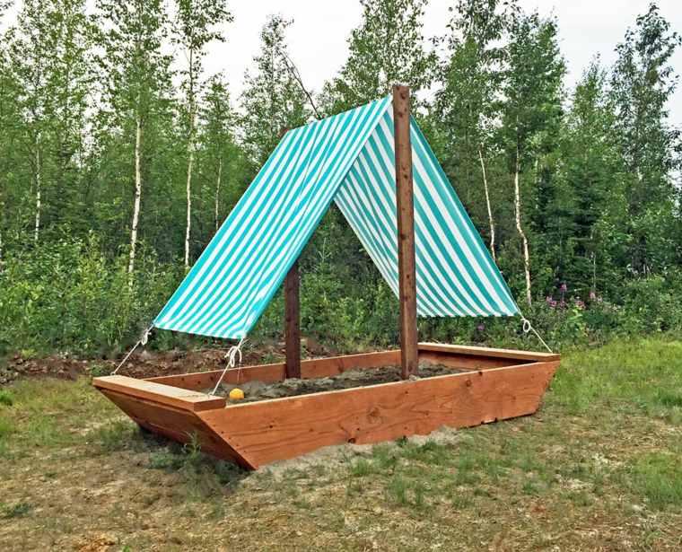 parque infantil-jardin-barco-original-diseno