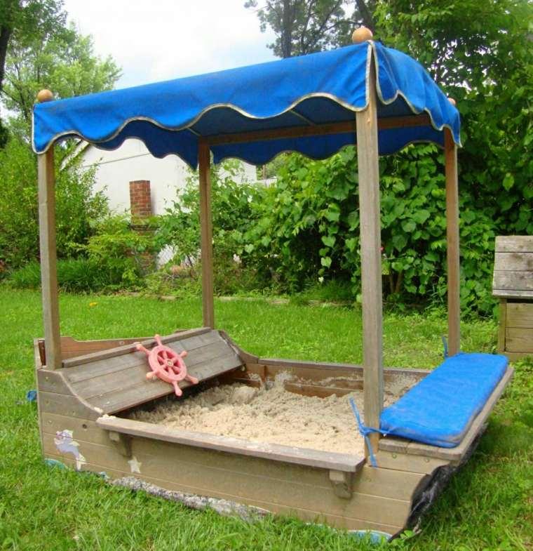 parque infantil-jardin-caja-arena-barco-opciones