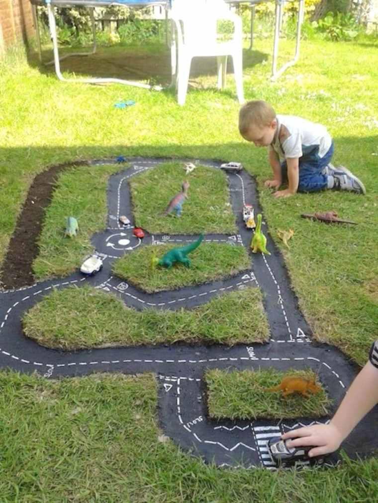 Parque infantil en el jardín - ideas de DIY muy divertidas -