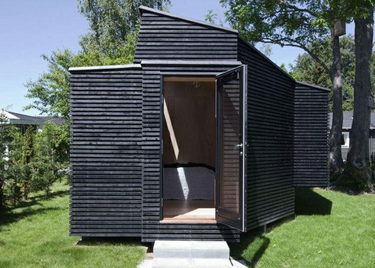 patios ideas listones-patios-exteriores-casas-puertas