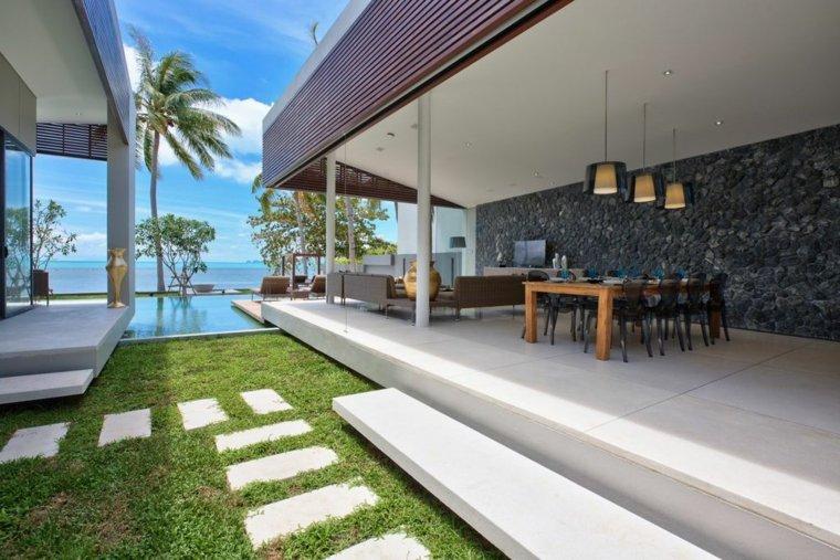Porches de obra modernos y terrazas cubiertas con estilo -