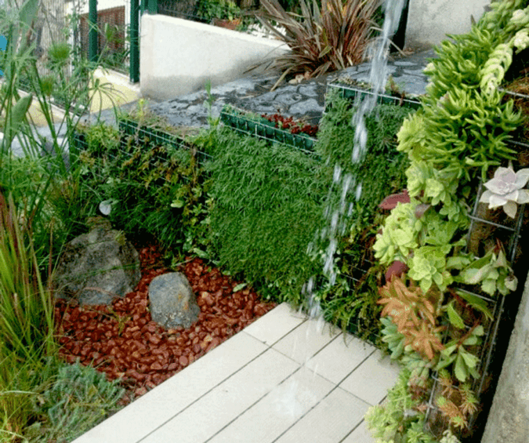 jardines con ducha