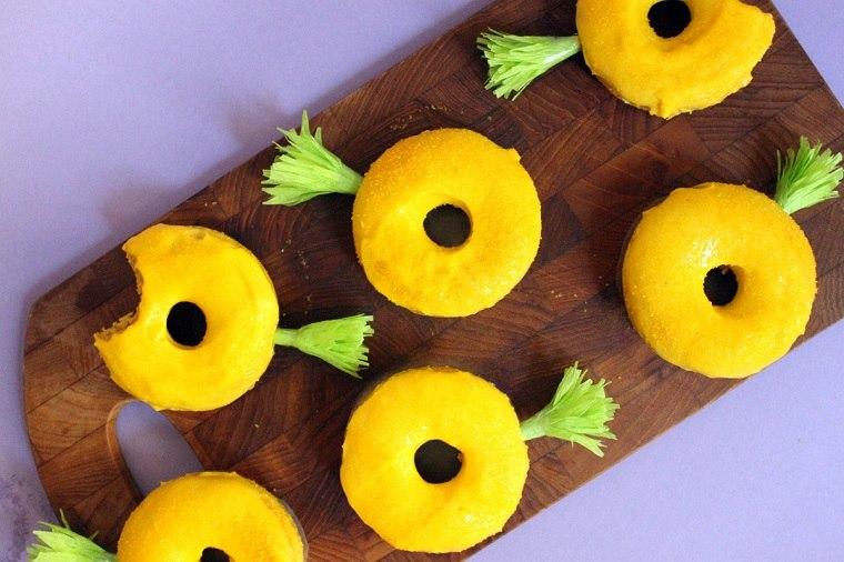 recetas de comida-cumpleanos-infantil-donuts-pina