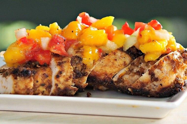 recetas-de-pechuga-de-pollo-comida-salsa-mango