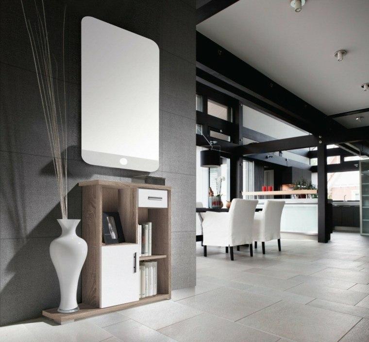 recibidores modernos jarrones-salas-comedores