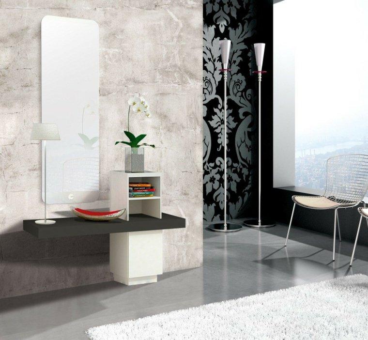 recibidores modernos lujo-papel-paredes