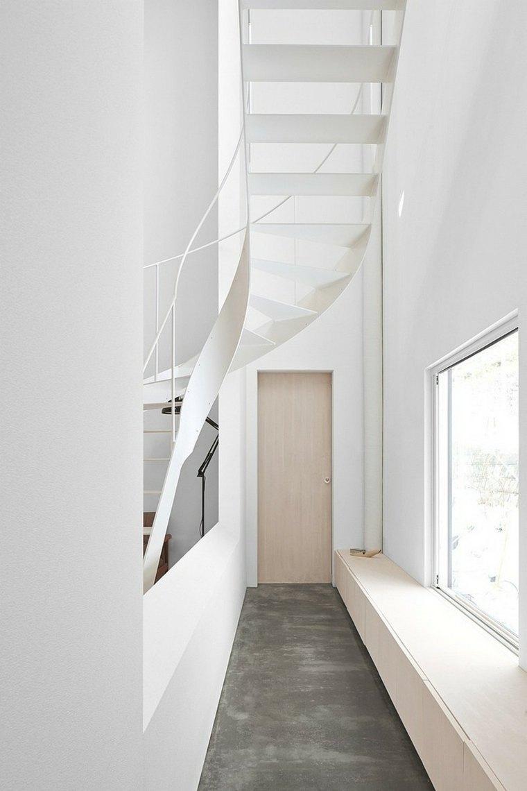 recibidores modernos minimalistas-escalera-caracol