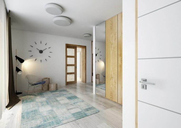 recibidores modernos relojes-paredes-esferas
