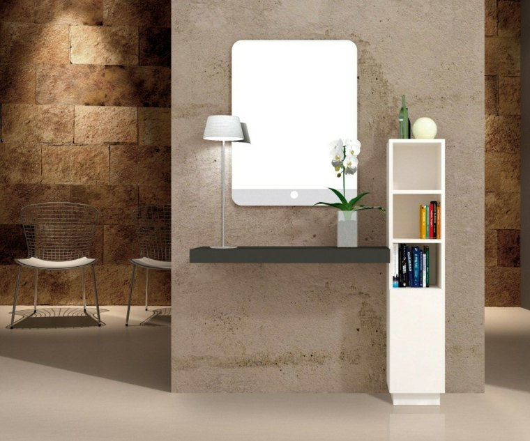 recibidores modernos simples-luces-espacios