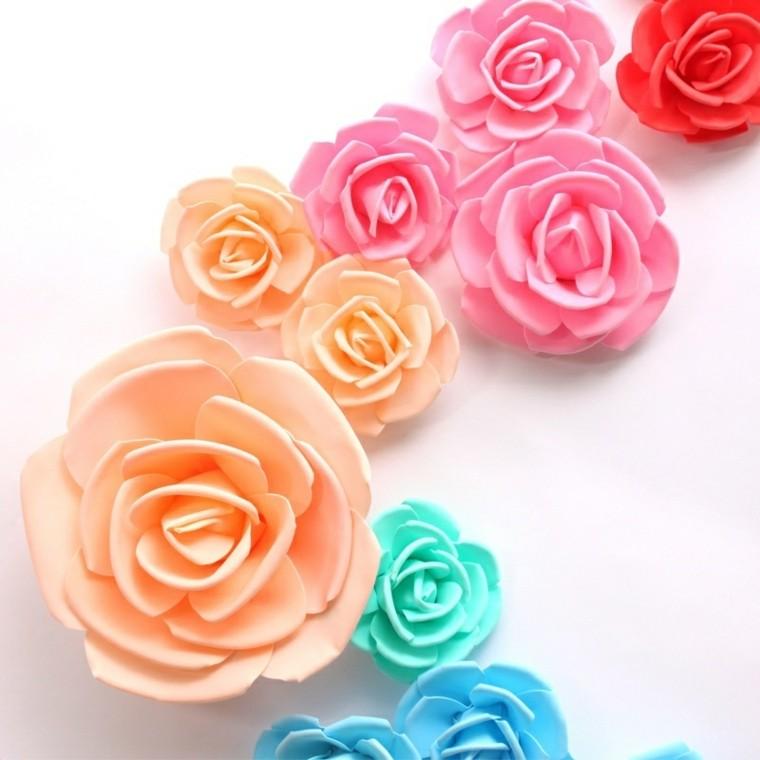 Flores De Goma Eva Ideas Creativas Y Muy Económicas