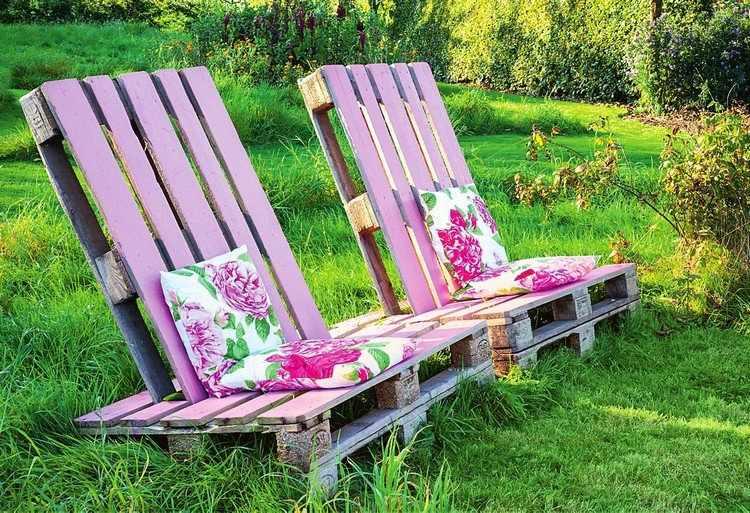Muebles de jard n baratos 20 ideas de muebles hechos con for Sillones jardin baratos