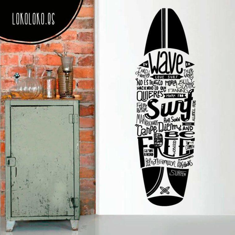 pegatina tabla surf