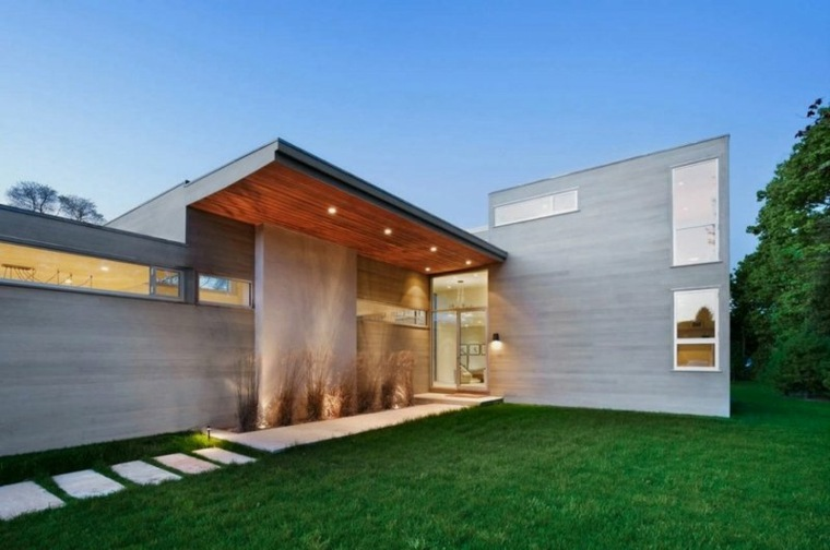 Porches de obra modernos y terrazas cubiertas con estilo for Porche diseno