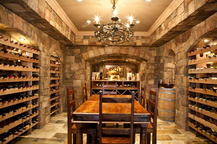 diseño de sala de vinos