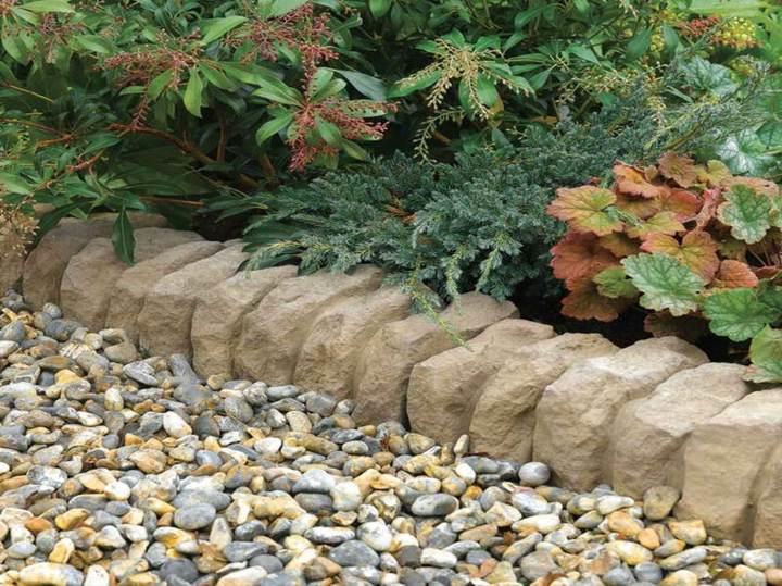 bordes jardineras rocas simples efectos