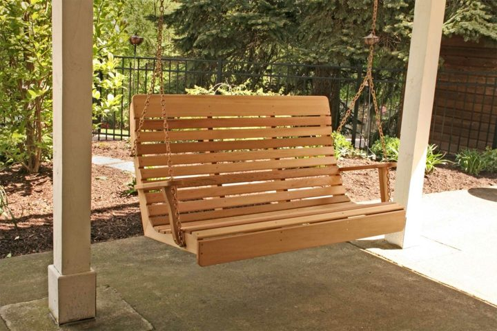 columpios madera patios diseños