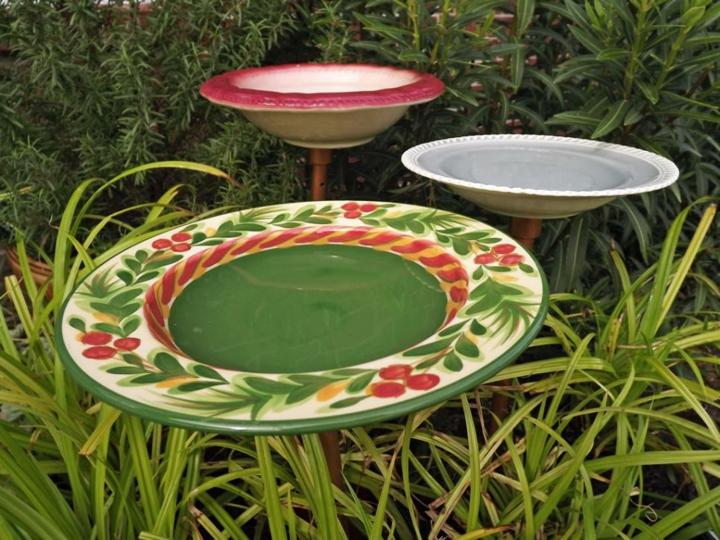 decorar jardin barato platos comedores