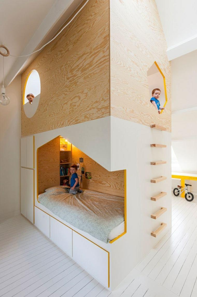 dormitorios infantiles ides-madera-camas