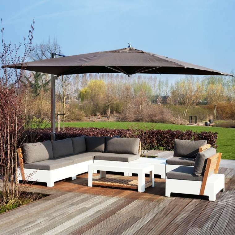 Sombrillas jard n y terraza consejos sobre c mo elegir for Sombrillas terraza