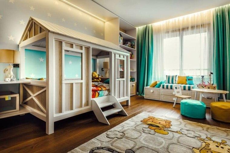habitaciones-especiales-lineas-coloridas