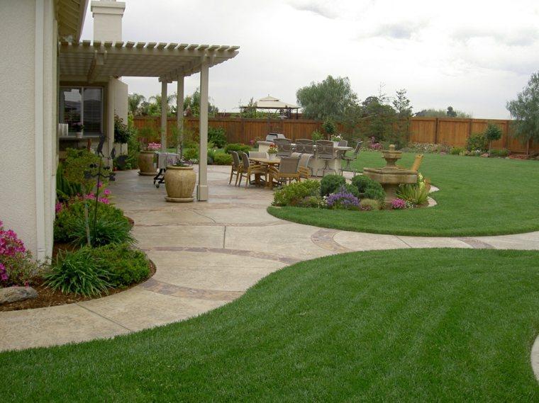 ideas para arreglar un jardín-exteriores-muebles-cesped
