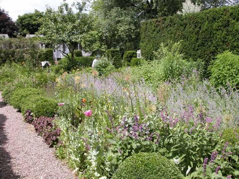 ideas para arreglar un jardín-plantas-camino-diseno