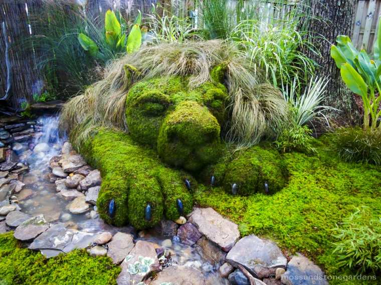 Ideas para decorar un jardin hermoso con piedra y musgo for Ideas para arreglar un jardin