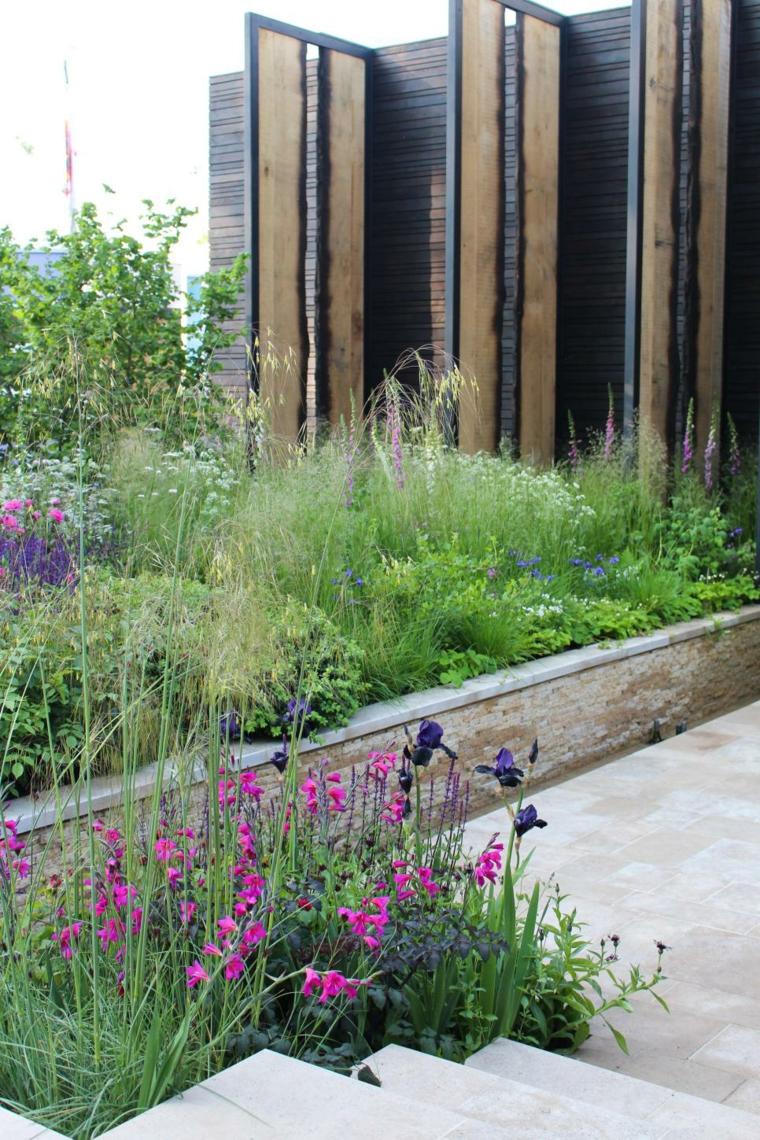 jardines bonitos impresiones-madera-efectos