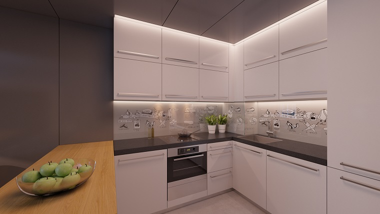Revestimiento cocina e ideas para las paredes y salpicaderos for Vinilos pared cocina