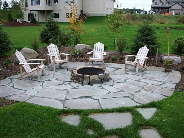 patio fogata esplendor materiales