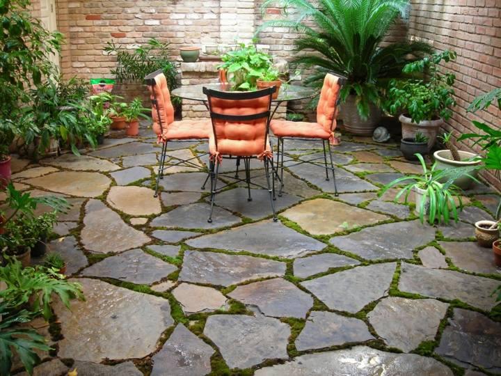 piedras para jardin comedores aire libre
