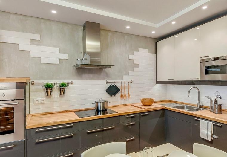 revestimiento cocina e ideas para las paredes y salpicaderos