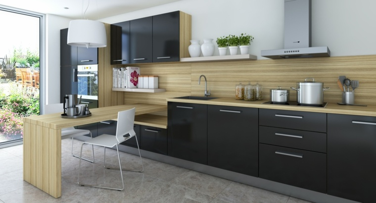 Revestimiento cocina e ideas para las paredes y salpicaderos for Revestimientos paredes cocina